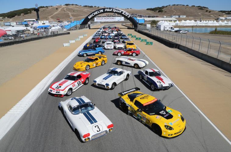 Corvette Group Shot 2013 Rolex Monterey Motorsports Reunion